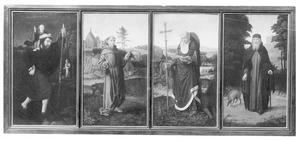 H. Christoforus, H. Franciscus, H. Hieronymus, H. Antonius Abt
