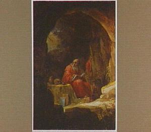De H. Hiëronymus mediterend in een grot