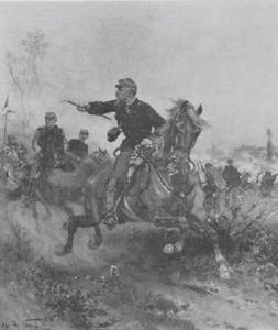 Regimentscommandant leidt de aanval