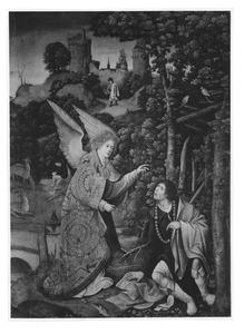 Een engel verkondigt Rochus dat hij is genezen van de pest