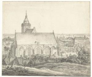 Buurkerk en omgeving te Utrecht