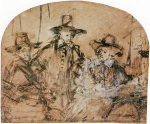 Jacob van Loon, Volckert Jansz. en Willem van Doeyenburg, drie waardijns van het lakenbereidersgilde