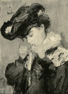 Jonge vrouw met sigaret
