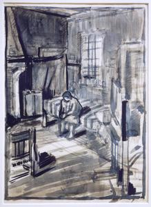 Interieur te Overveen tijdens de Tweede Wereldoorlog