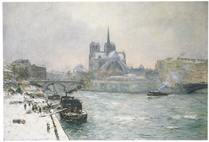 Gezicht op de Notre Dame te Parijs