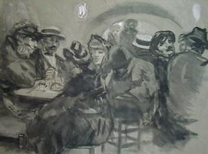 Caféscène in Trastevere, Rome