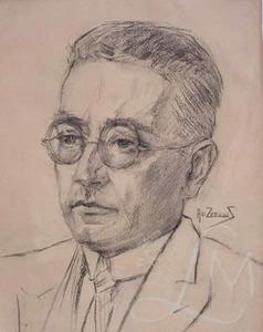 Portret van Simon Vestdijk (1898-1971)