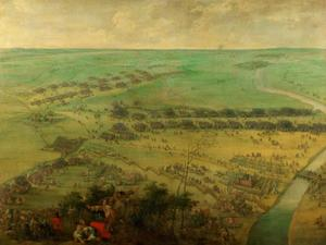 De slag bij Thionville, 19 juni 1639 tussen de keizerlijke troepen onder Ottavio Piccolomini en de Fransen