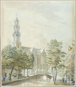 De Westerkerk gezien vanaf de Rozengracht, in Amsterdam