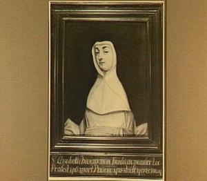 Portret van Elisabeth van der Leck (?-1432), priorin van het klooster St. Catharinadal