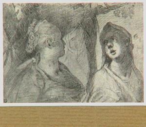 Twee vrouwenhoofden