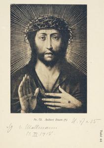 Christus als Man van Smarten in een stralenkrans