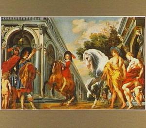 Een levade uitgevoerd onder het toeziend oog van Mercurius,Venus en een ritmeester