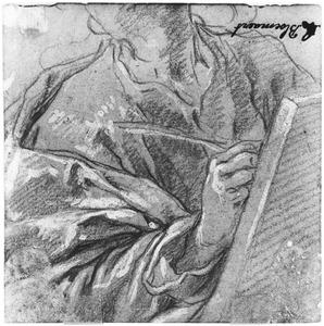 Studie van een schrijvende man (evangelist)