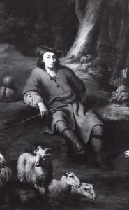 Portret van een onbekende man als herder