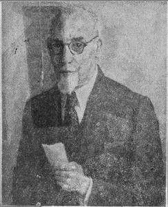Portret van B.J. Kerkhof (1879-1951)