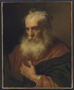 Tronie van een oude man met witte baard