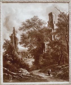 Landschap met motieven van het Huis ter Kleef bij Haarlem