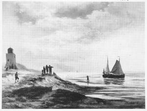 De kust bij Scheveningen