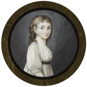 Portret van Bartha Maria Sophia Veerman Senserff ( -1858)