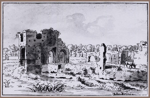 Ruïne van het kasteel  Velp (of Bronckhorst) bij Grave