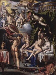 Vulcanus onthult het overspel van Mars en Venus