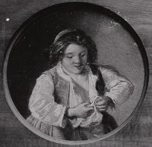 Meisje dat vlooien vangt (de vijf zintuigen: het Gezicht)