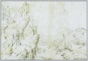 Rotslandschap met vallei