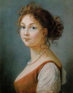 Portret van Louise von Mecklenburg-Streltz (1776-1810), koningin van Pruisen