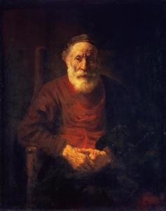 Oude man in leunstoel