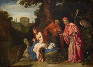 Suzanna belaagd door de ouderlingen (Daniel 13: 1-63)