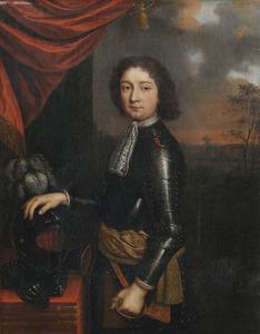 Portret van een jonge man in wapenrusting