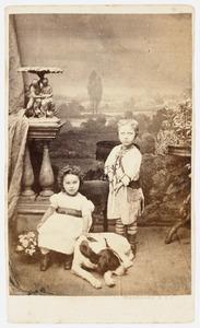 Portret van J.A.A.C. van Rappard (1860-1933) en Pauline Martine Wilhelmina van Rappard (1862-1883)