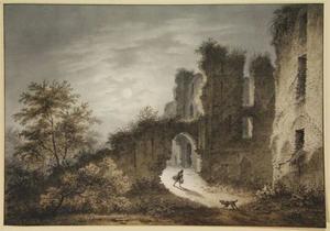 De ruïne van kasteel Brederode vanuit het oosten