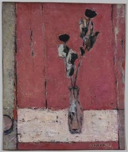 Vaas met twee rozen