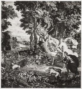 Diana op vossenjacht