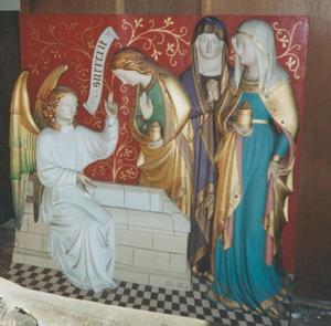 De drie Maria's en een engel bij het graf