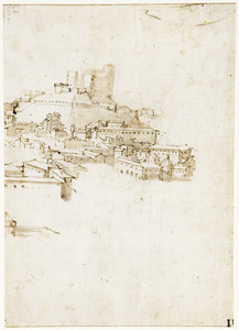 Gezicht op Messina met het kasteel Matagrifoni