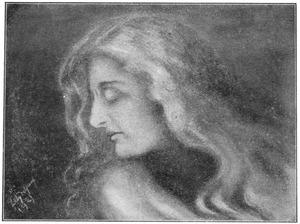 Jonge vrouw met golvend haar
