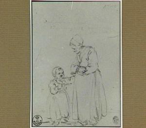 Staande vrouw met kind