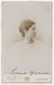 Portret van Francisca Johanna Jacoba Alberta IJzerman (1877-1959)