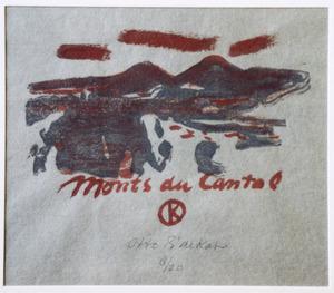Omslag voor een map met landschapstudies uit de Auvergne