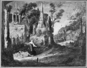 Landschap met de dood van Pyramus en Thisbe