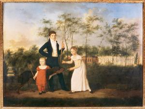 Groepsportret van Adriaan Jan van Roijen (1800-1874), Adriana Ripperdina van Roijen (1804-1887) en Herman Jan Wesselius van Roijen (1814-1838)