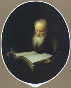 Oude geleerde met een foliant