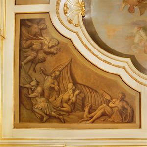 De schipbreuk van Aeneas voor de kust van Carthago