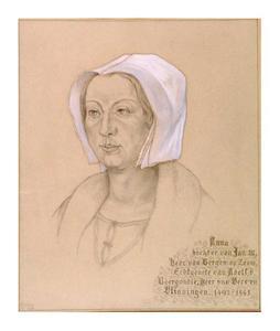 Portret van Anna Glimes (1492-1541)