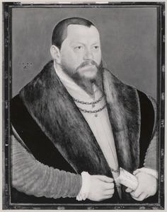 Portret van August von Saksen (1526-1586)