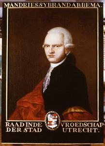 Portret van Andries Sybrand Abbema (1736-1802)