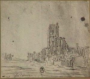 Ruïne van de kerk van Egmond aan Zee
